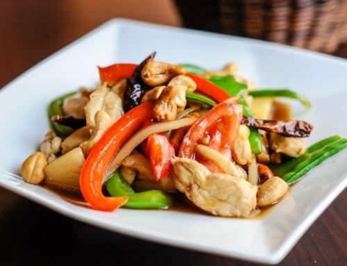 Agrodolce di peperoni e pollo