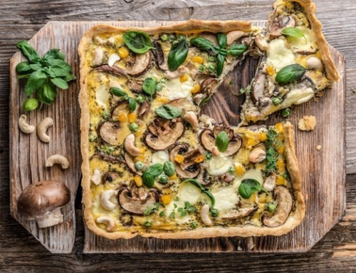 Finta frittata di funghi e spinaci