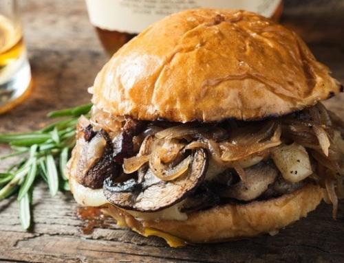 Burger vegetariano ai funghi