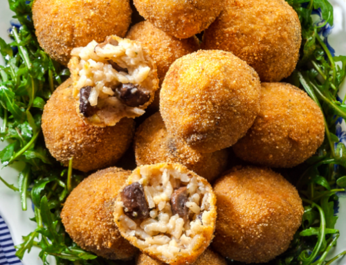 Arancini mignon with Ortoledda mushrooms